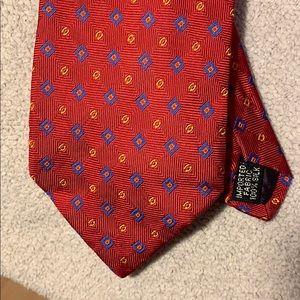 Red Oscar De La Renta 100% silk Tie